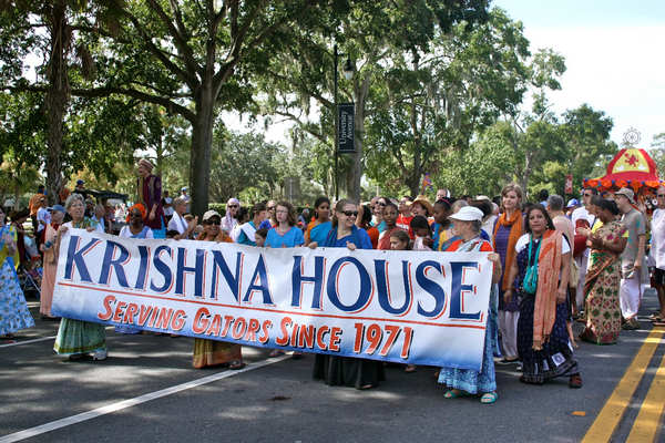 Krishna's in Homecoming Parade