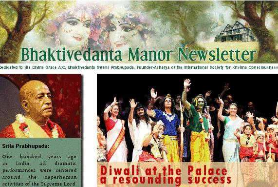 Bhaktivedanta Manor December 2011 Newsletter thumbnail