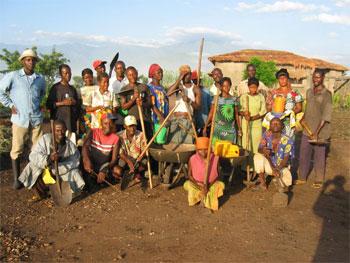 Self-sufficient farm in Congo