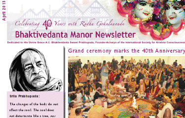 Latest edition of the Bhaktivedanta Manor Newsletter (April 2013) thumbnail