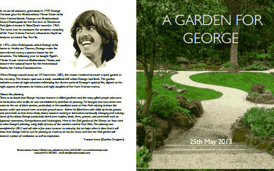 George Harrison Garden officially opened thumbnail