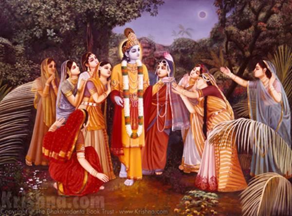 Lord Krishna And Gopis Lord Sri Krishna And Gopis in