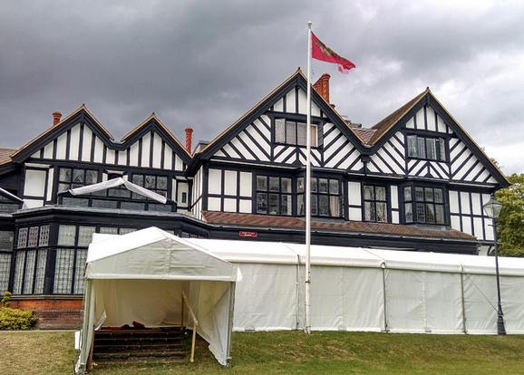 Huge preparations in Bhaktivedanta Manor, for the Janmastami Festival 2014 thumbnail