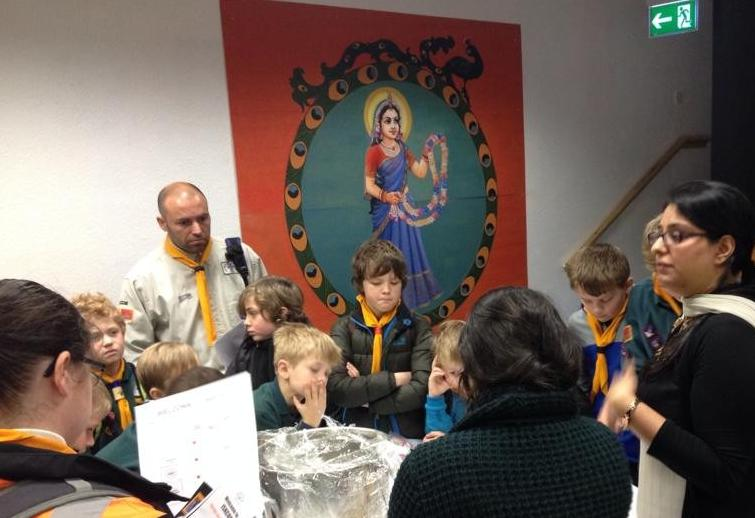 Hundreds of Scouts visit ISKCON Leicester for Interfaith Trail thumbnail