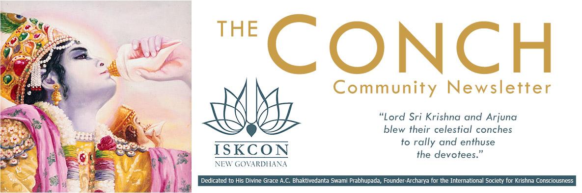 The Conch - The Community Newsletter for ISKCON New Govardhana