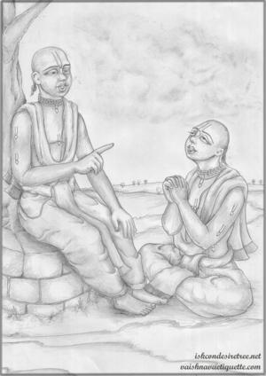 Caitanya Mahaprabhu & Sanatan Goswami