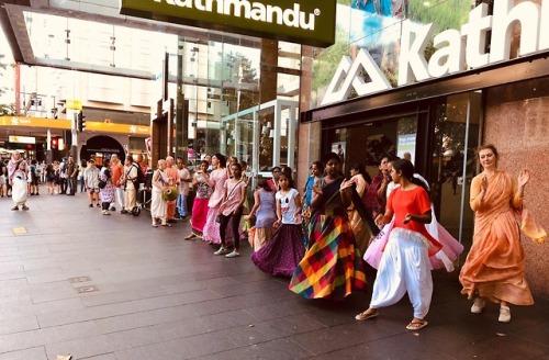 Harinama, book distribution, prasadam distribution in Auckland,...