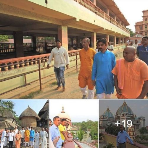 The Minister of tourism of Western Bengal visited Mayapur (Album of photos)